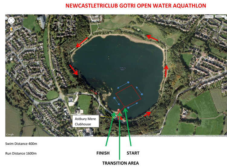 GOTRI aquathlon course map
