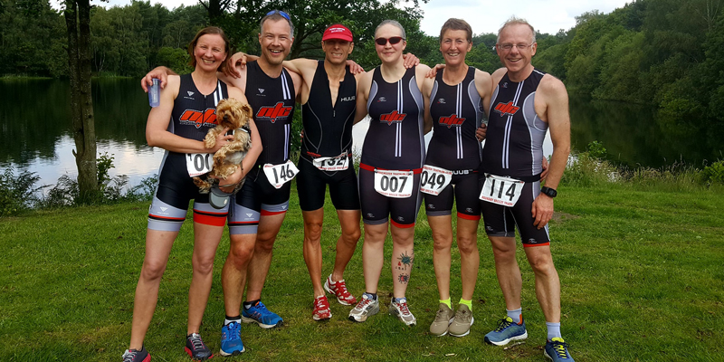 triathletes after Boundary Breeze race
