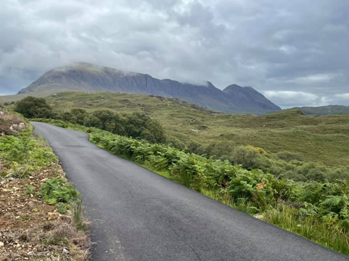 remote road leading into the mountains