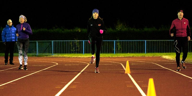 Runners on Northwood Stadiium track