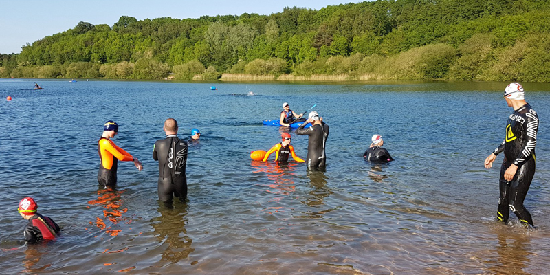 open water swimming at Astbury Mere